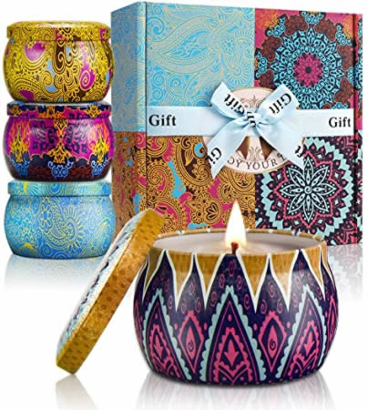 YMing Scented Candles Lavender, Lemon, Mediterranean Fig, Fresh Spring,Natural Soy Wax for Tarot by Tilly Tarot