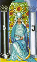 The High Priestess was Sandra's Lucky Card for the Full Moon!