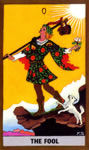 GOLDEN RIDER TAROT DECK - 0 THE FOOL