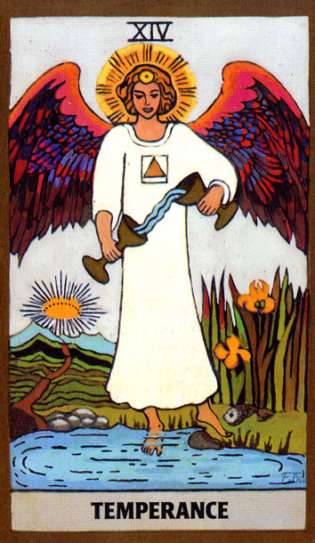 GOLDEN RIDER TAROT - TEMPERANCE