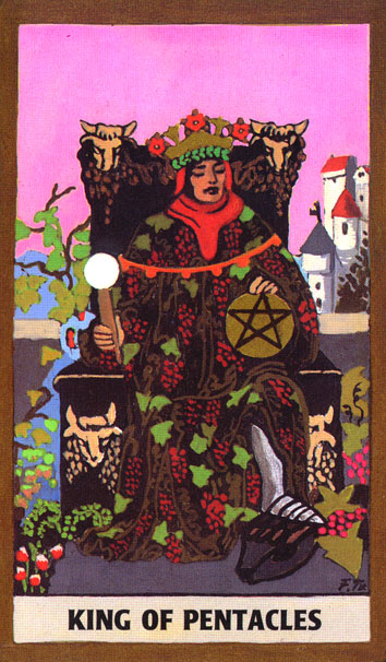 GOLDEN RIDER TAROT DECK - KING OF PENTACLES