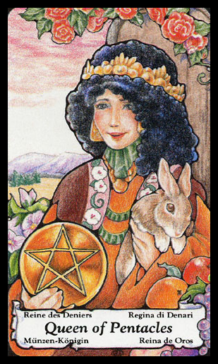HANSON-ROBERTS by Mary Hanson-Roberts (1985) - Queen of Pentacles