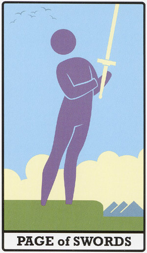 INTERNATIONAL ICON TAROT A - PAGE OF SWORDS
